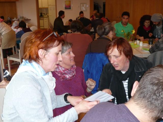 Internat.Café 9.4.16 - Sandra, Susanne und Brigitte