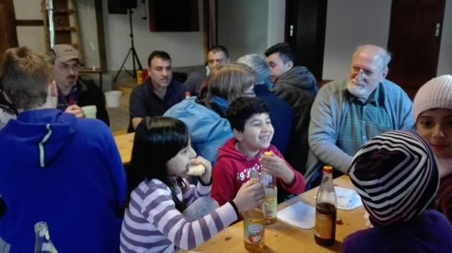 Stadtputzete - Hilmar mit Kindern Vesper - 11.3.17